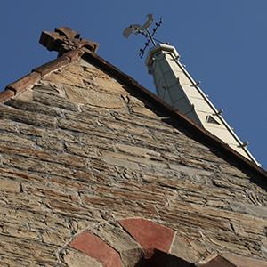 Stone church facade