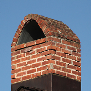 Chimney with curved top